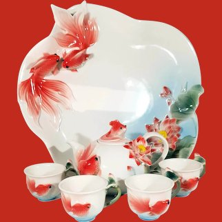Limited Edition Staffordshire Tea set for 4