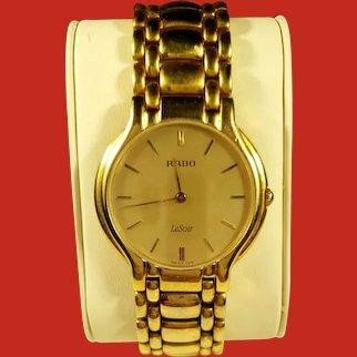 Rado LeSoir Exclusive Unisex Gold Plated Watch