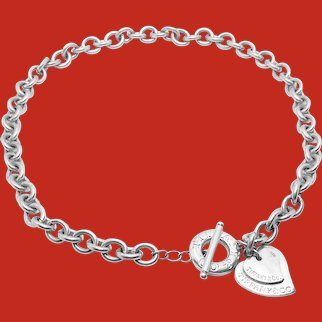 Return To Tiffany Double Heart Toggle Necklace 925 Sterling Silver