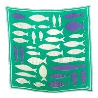 Vintage Vera Neumann Silk Scarf with Happy Fish