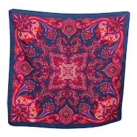 Vintage Jewel-toned Paisley Scarf by Liberty of London