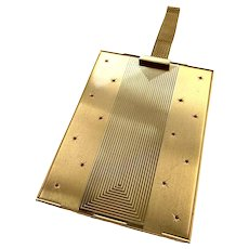Vintage 1930s Two-Sided Minaudière Compartment Gold Metal Purse