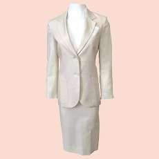 Vintage 1960s Cream Linen Suit by Paul Stanley