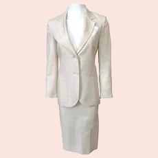 Vintage 1960s Cream Linen Suit by Paul Stanley