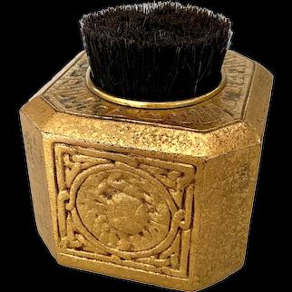 Tiffany Studios Desk Set Gold Doré Zodiac Pen Wipe #1085
