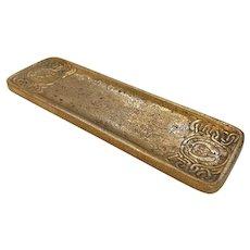Tiffany Studios Desk Set Gold Doré Zodiac Pen Tray #1000