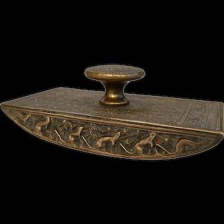 Tiffany Studios Desk Set Gold Venetian Ink Rocker Blotter #1646