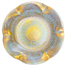 Vintage Stangl Pottery Fluted BowlAntique Gold 4052