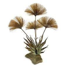 John Steck 1960 Midcentury Modernist Brutalist Desert Flowers Metal Sculpture