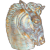 Vintage MCM Stangl Pottery Rare Large Horse Vase Sculpture Antique Gold 3611