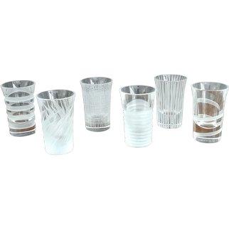 6 Hand Carved Crystal Vodka Shots
