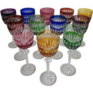 Vintage Justin Tharaud Designs Heirloom Wine Glasses - Set of 12