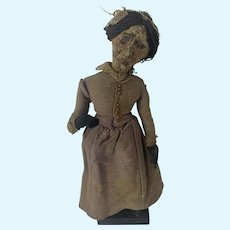 Very Unique Turn of the Century Folk Art Doll-For the Literature lover!
