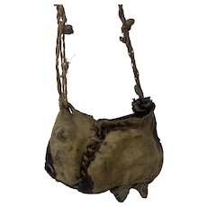 Primitive Museum Quality Plains Native American Dew Claw Gathering/Storage Bag, Pre-Trade or Earlier