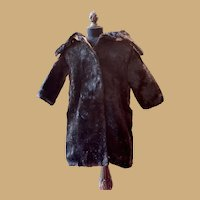 Antique Edwardian Era Fur coat for your French or German Doll