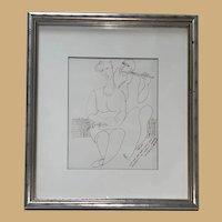 Original Modern Cubism Portrait By Yuri Yuroz C 1989