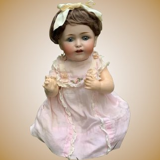 Stunning German Doll Kestner JDK 257 Blue-eyed Character toddler-Original Clothing Sweet face!!