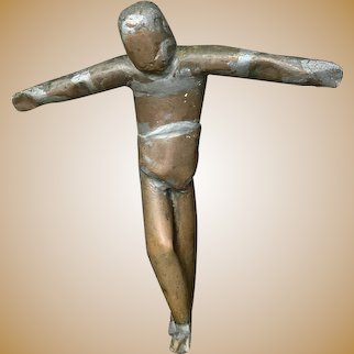 Vintage WW11 Trench Art-Image of Christ, Crucifix-German