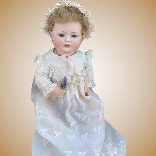 """Bahr & Proschild Character Bisque Head Toddler 585 with Original Skin Wig- 11"""""""