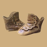 Antique French Keystone High Button Boots Sz 4
