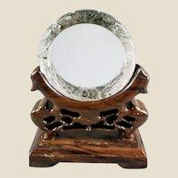 Vintage Carved Lodolite Quartz Dragon and Pheonix Wedding Bangle - Wearable Art