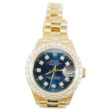 Rolex President Datejust 26mm 18K Yellow Gold and  Diamonds Watch