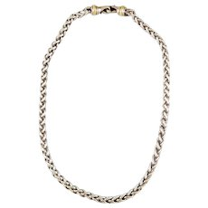 David Yurman Classic 14K, Sterling Silver Two-Tone Wheat Chain Necklace