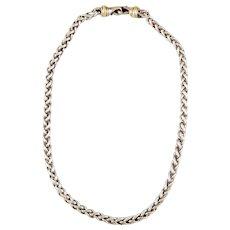 David Yurman Classic 14K, Sterling Silver Two-Tone Wheat Chain Necklace