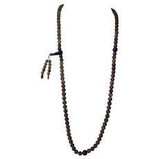 Labradorite and Lapis Lazuli  Mala Bead Necklace/Bracelet