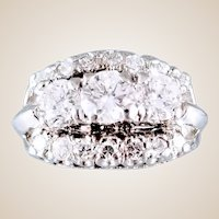 Vintage 14K 1.34 ctw Diamond Ring,  Sz 4.25