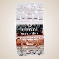 18K Gucci Ring/Band, Sz 5.25