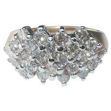 Diamond Anniversary Ring, Five Rows Prong set