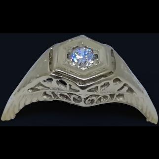 14 Kara t Gold Diamond ring 1920s