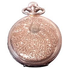 Hamilton Gold  14 k 1907  Triple Case Pocket watch.