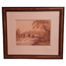 English watercolor early 19th century