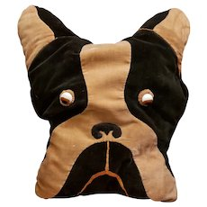 Farnell Velveteen Boston Terrier Stuffed Dog Pillow