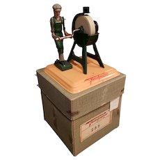 Fleischmann Grinding Wheel Tin Toy Original Box Steam Engine