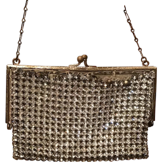 Small Vintage Rhinestone Evening Purse