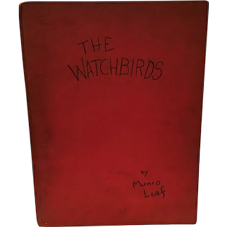 Children's Book The Watchbirds by Munro Leaf 1939