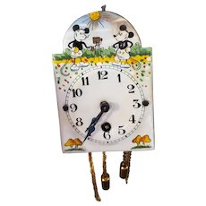 Tiny and Wonderful Early Mickey Mouse Enamel Clock Original Box