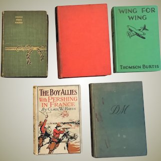 Lot of Books First Edition SET OF FIVE Hard Cover  circa 1893-1938