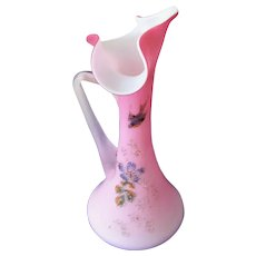 Beautiful Peachblow Webb Art Glass Pitcher