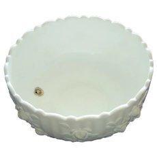 Very Nice Westmoreland Milk Glass Rose Bowl