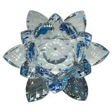 Beautiful Clear/Blue Crystal Flower
