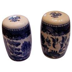 Old Japan Blue Willow Salt & Pepper Shakers