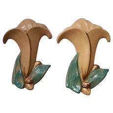Nice Matching Pair McCoy Pottery Wall Pockets