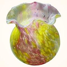 Splatter Glass Art Glass Vase (3 colors)