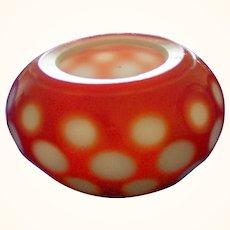 Miniature Peking Cameo Glass Bowl Marked (China)