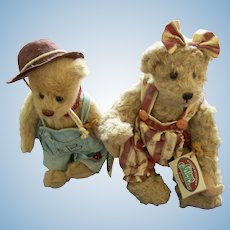 (2) Cottage Collectibles (Bear) Dolls (Billy) (Ramona) by Gunz