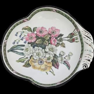 Don Pottery Pearlware Shell Shaped Dessert Dish Georgian Antique c 1820